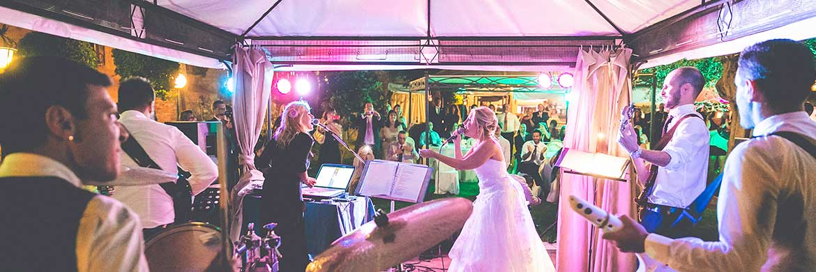 Live music wedding Italy live band with Romadjpianobar